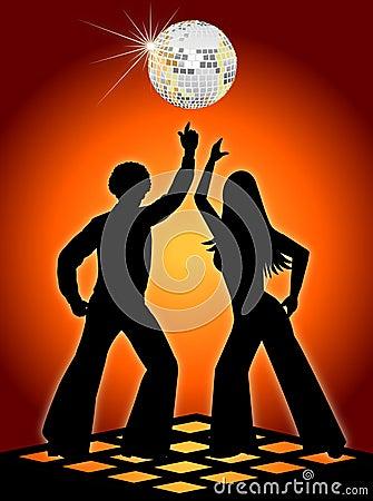 Retro Disco Dancers Orange