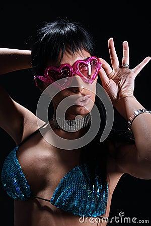 Retro disco lady
