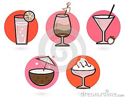 Retro drinks set