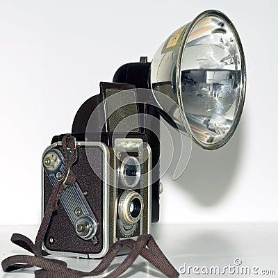 Retro duaflex kodak camera sq
