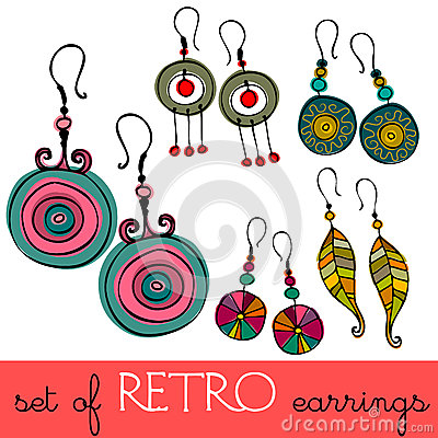 Retro earrings
