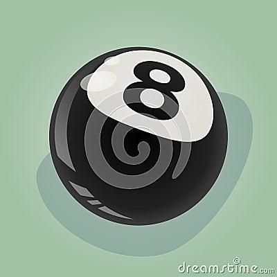Retro eight ball illustration