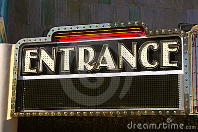 Retro Entrance Sign Editorial Photo