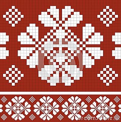 Retro fabric ornament