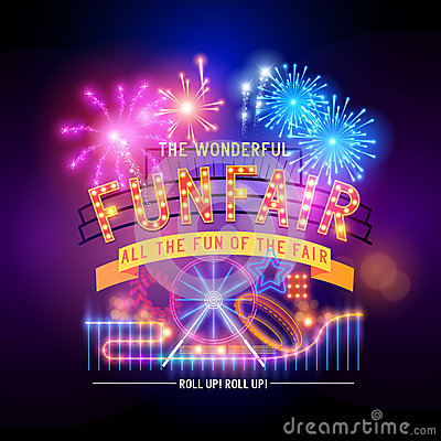Free Retro Fairground Circus Sign Stock Photo - 42793170