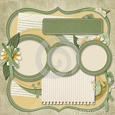 Retro family album.365 Project. scrapbooking templates.