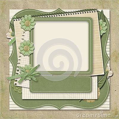 Free Retro Family Album.365 Project. Scrapbooking Templates. Royalty Free Stock Photo - 29529585