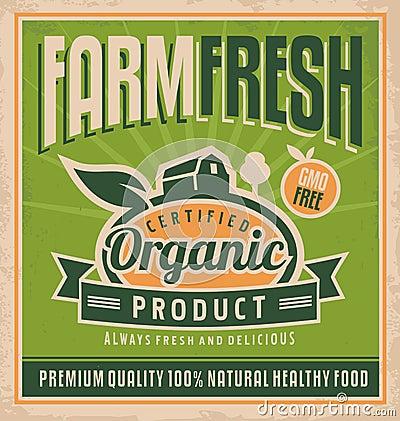 Free Retro Farm Fresh Food Concept Stock Image - 32938541