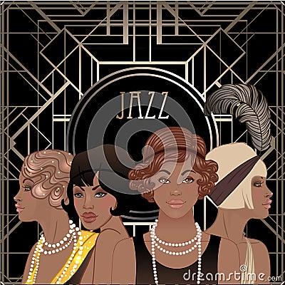 Free Retro Fashion: Glamour Girl Of Twenties (African American Woman) Royalty Free Stock Photos - 93023788