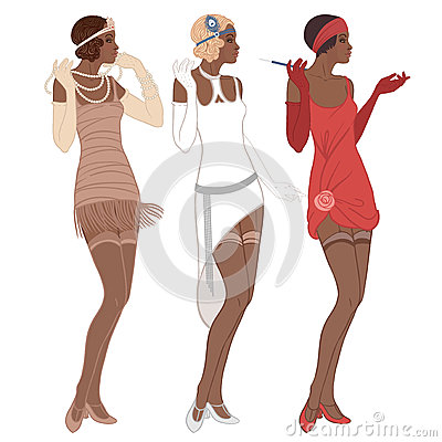 Free Retro Fashion: Glamour Girl Of Twenties (African American Woman) Royalty Free Stock Photography - 93025987