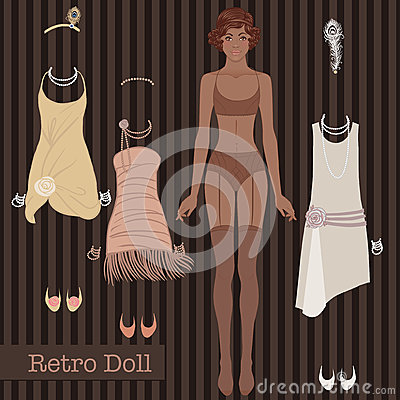 Free Retro Fashion: Glamour Girl Of Twenties (African American Woman) Stock Photo - 93026160