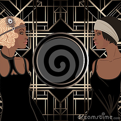 Free Retro Fashion: Glamour Girl Of Twenties (African American Woman) Stock Photo - 93026180