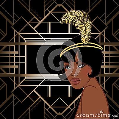 Free Retro Fashion: Glamour Girl Of Twenties (African American Woman) Royalty Free Stock Photo - 93026195