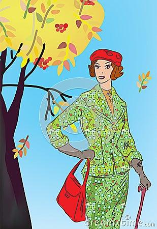 Free Retro Fashion Model Stock Images - 21000364