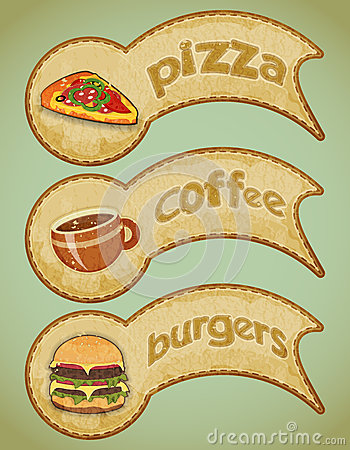 Retro fast food labels