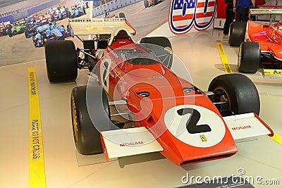 Retro Ferrari F1 formula one racing car