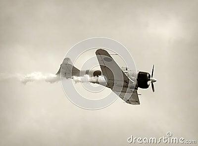 Retro fighter airplane