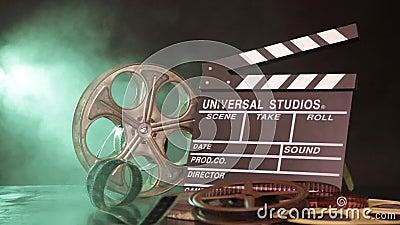 Retro Film Production Accessories Still Life Stock Video - Video of ...