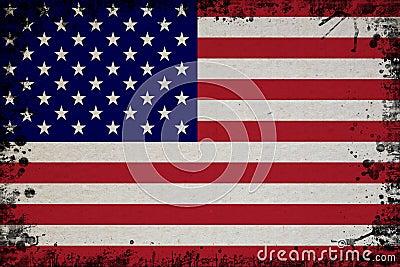 Retro Flag Of USA