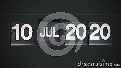 Retro Flip Calendar - Full Year 2020 stock video