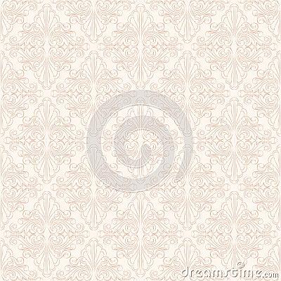 Retro floral beige pattern