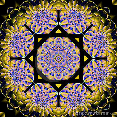 Retro floral mandala