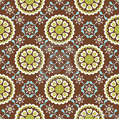 Retro Floral Pattern SEAMLESS