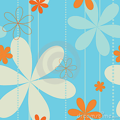 Free Retro Floral Seamless Pattern Royalty Free Stock Photo - 8383935
