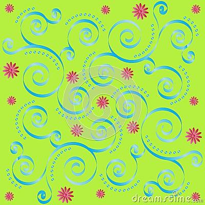 Retro Floral Tile