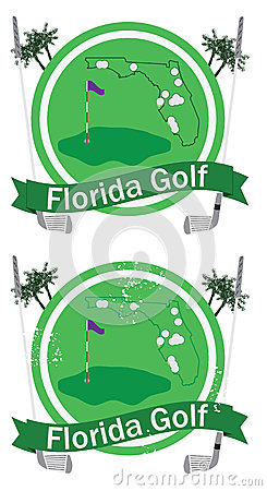 Retro florida golf badge