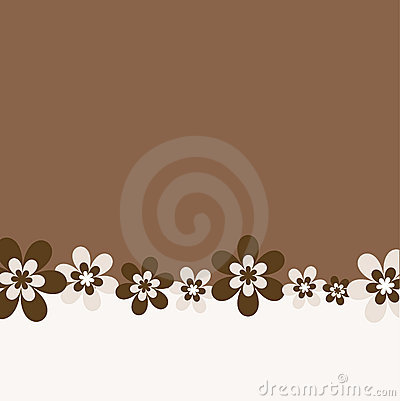 Retro flower background
