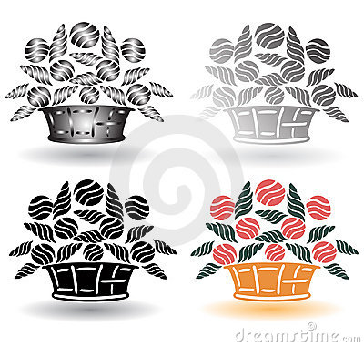 Retro flower basket