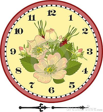Retro Flower Clock Dial
