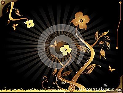 Retro flower composition