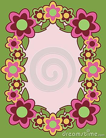 Retro Flower Frame_Green