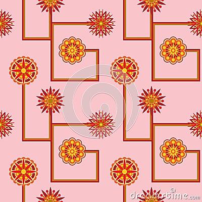 Retro Flower Seamless Wallpaper
