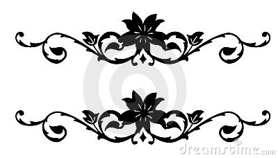Retro flower silhouette pattern