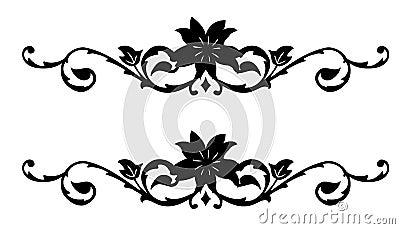 Retro flower silhouette pattern