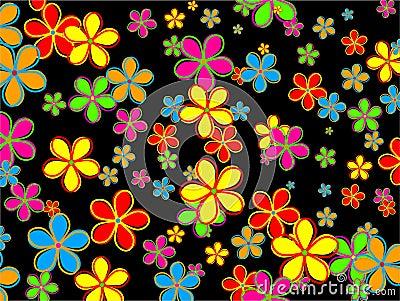 Retro Flower Wallpaper Design