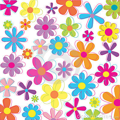 Free Retro Flowers Stock Image - 2615011