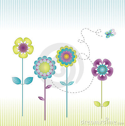 Free Retro Flowers Stock Photo - 4740260
