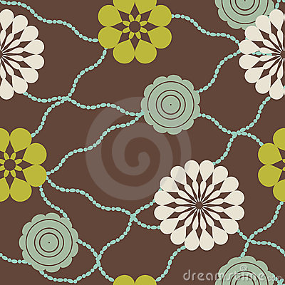 Retro flowers and beads