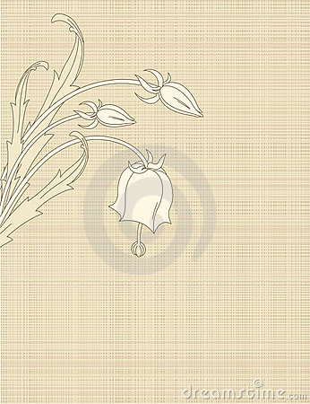 Retro Flowers on canvas