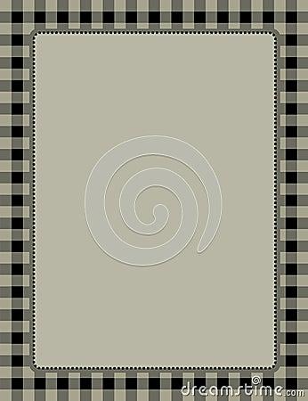 Retro frame gingham