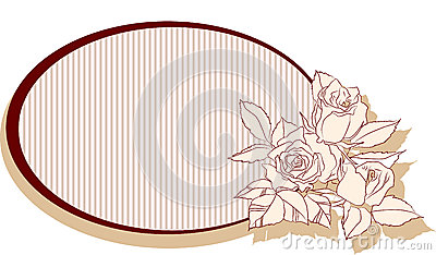 Retro frame with roses
