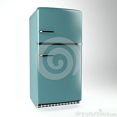 Retro fridge side view stock image image 25089651 for Side by side kühlschrank retro