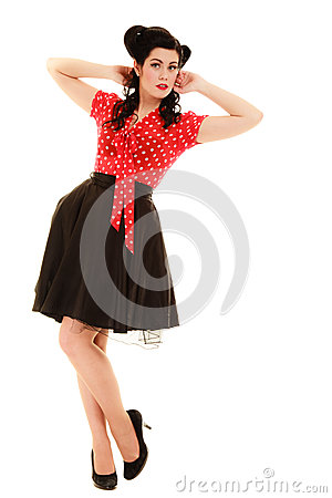 young beautiful caucasian woman posing isolated over white