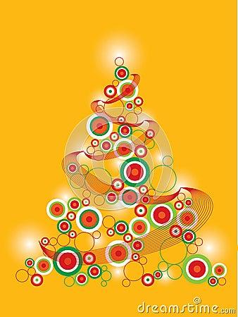 Retro funky christmas tree