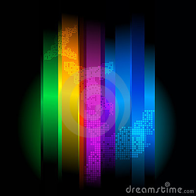 Retro futuristic abstract background