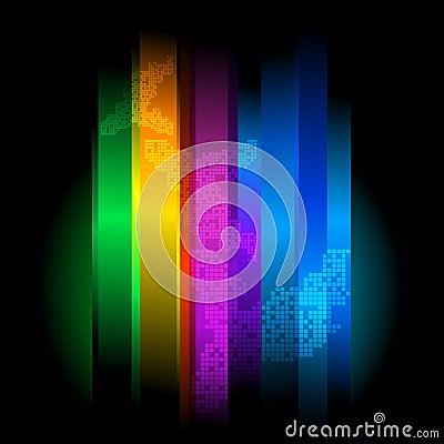 Retro futuristic abstract background